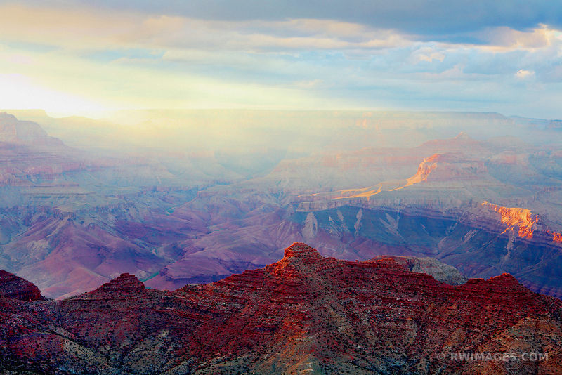 LIGHT FROM THE WEST GRAND CANYON NATIONAL PARK ARIZONA COLOR