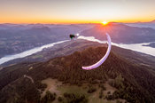 Wing Over at sunset with Jim Nougarolles