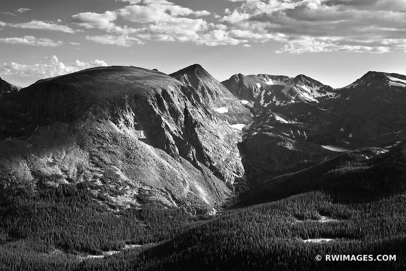 Rocky Mountain National Park Colorado - Black and White Photos Images Fine Art Prints Stock Photos Color & Black and White Pictures Framed Canvas Metal Acrylic Prints Interior Designer Art Consultant Large Wall Decor Art Source