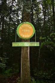 Sign in Cemetary Skagway Choose your trail