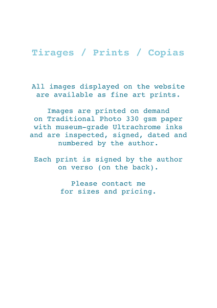 Tirages / Prints / Copias photos