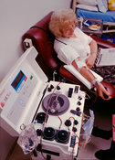 Blood platelet donation