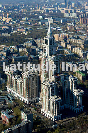 Russia, Moscow. The Triumph-Palace apartment complex. It is sometimes called the Eighth Sister because it is similar in appearance to the Seven Sisters skyscrapers built in Moscow by Joseph Stalin through the 1950s.