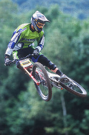 GREG MINNAAR MONT STE ANNE, CANADA. TISSOT MOUNTAIN BIKE WORLD CUP FINALS 2001