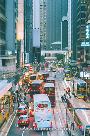 traffic in central hong kong