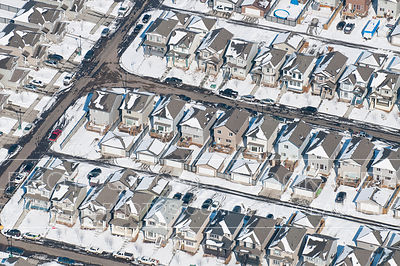 Snow Covered Houses