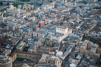 Aerial view of Covent Garden, London