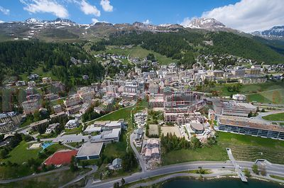 Stock St.Moritz Airview Summer photos