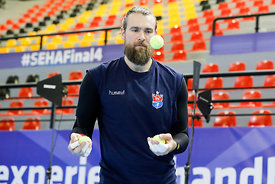 Pavel Horak of team Meshkov Brest training during the Final Tournament - Final Four - SEHA - Gazprom league, Skopje, 12.04.2018, Mandatory Credit ©SEHA/ Stanko Gruden
