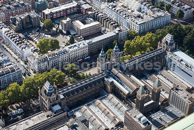 Aerial view of the Natural History Museum, London