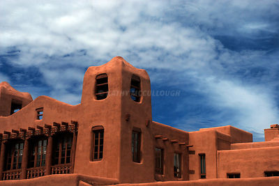 Stucco building blue sky NM