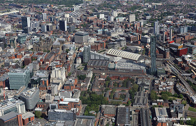 aerial photograph  Manchester England UK.
