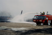 Air crash simulation - Fire-fighting