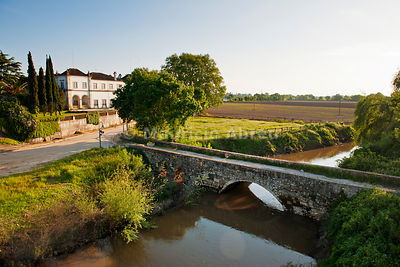 Muge river and the plains of Ribatejo. Muge, Salvaterra de Magos. Portugal