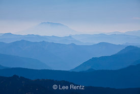 Mount St. Helens in Forest Fire Haze, Viewed from Goat Rocks