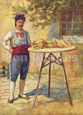 Simit-seller by Warwick Goble