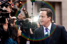20110204 - Brussels (Belgium) - UK Prime Minister David Cameron pictured at his arrival to the European Summit today 4th February 2011. © Bernal Revert/ EPA