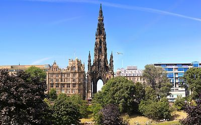 Scott Monument in Princes Street Edinburgh