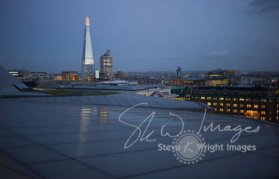The Shard and skyline at dusk - London, United Kingdom