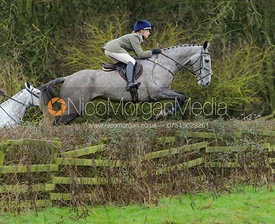 Amelia Leeming jumping a hedge from Town Park Farm