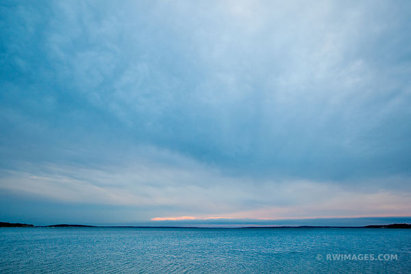 BLUE HOUR SUNSET CLOUDS NOYAC BAY SAG HARBOR NORTH HAVEN LONG ISLAND NY