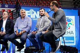 Handball discussion during the Final Tournament - Final Four - SEHA - Gazprom league, Skopje, 12.04.2018, Mandatory Credit ©SEHA/ Uros Hocevar