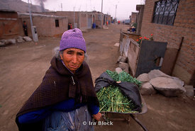 Peruvian woman selling goods