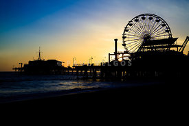 Southern California Santa Monica Pier Sunset