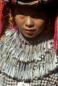 Lisu girl's jewellery, for festivals and weddings.