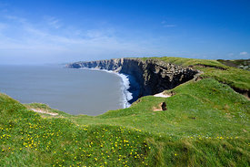 All Wales Coast Path, from Nash Point, Glamorgan Heritage Coast, Vale of Glamorgan, South Wales, United Kingdom.