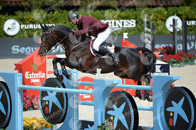 Hamad Ali Mohamed AL ATTIYAH ,(QAT), WHITAKER during Queen's Cup - Segura Viudas Trophy competition at CSIO5* Barcelona at Real Club de Polo, Barcelona - Spain
