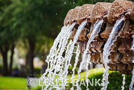 Pineapple fountain in Charleston South Carolina