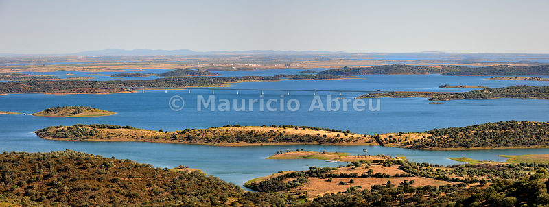 Alqueva dam, the largest artificial lake in Western Europe. Alentejo, Portugal