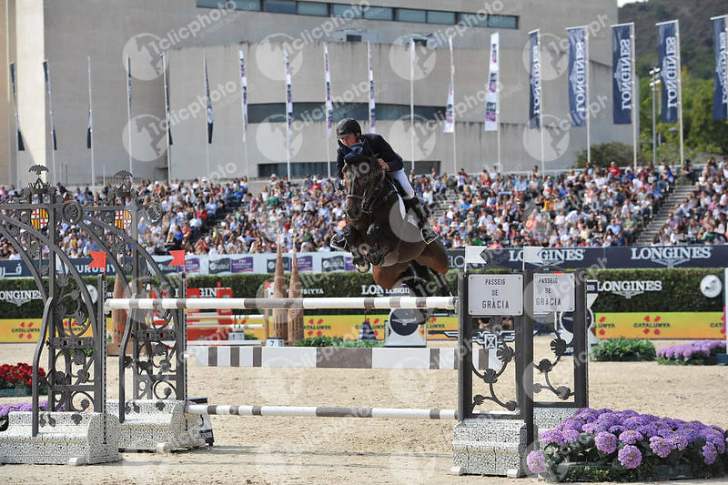 Lorenzo DE LUCA ,(ITA), SILVERSTRAS during Longines Cup of the City of Barcelona competition at CSIO5* Barcelona at Real Club de Polo, Barcelona - Spain