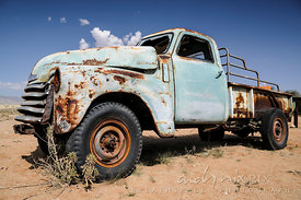 Old abandoned rusty trucks