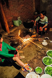 Hmong Guide Making Dinner in Tourist Hut