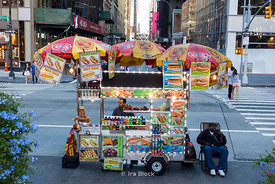 A food truck on 6the Avenue near Bryant Park in New York.