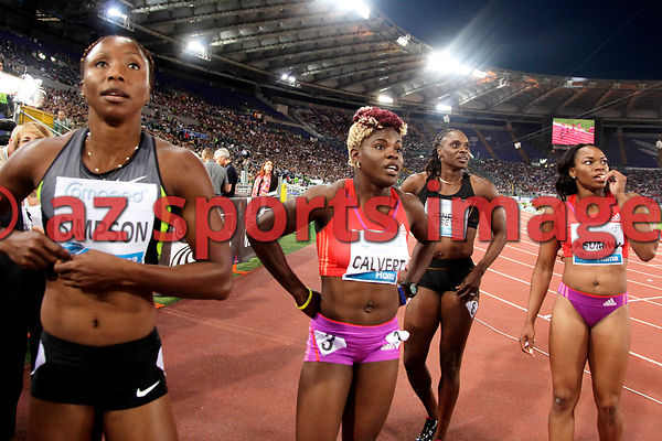 2012 Rome Golden Gala - Rome Diamond League 100m Schillonie Calvert JAM