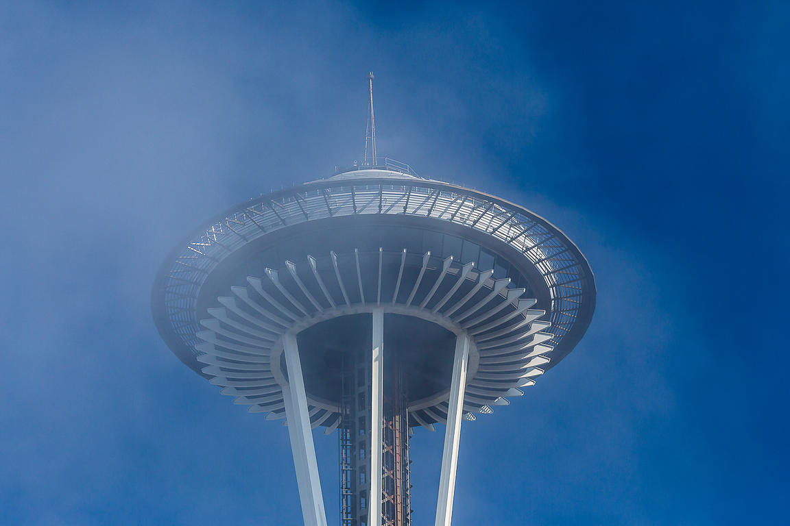 Summer Fog and Seattle's Space Needle