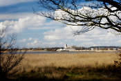 Christchurch harbour and priory