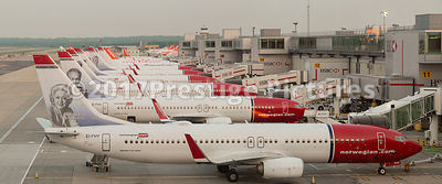 Norwegian Air Boeing 737-800 Aircraft on their Stands