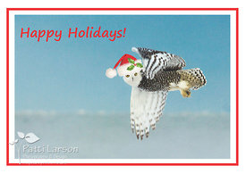 Snowy Owl Christmas Note Card