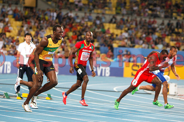 Usain Bolt disqualifies from the 100m Mens final race in the World championships
