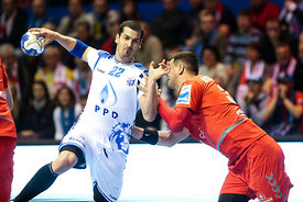 Josip Valcic during the Final Tournament - Final Four - SEHA - Gazprom league, Bronze Medal Match Meshkov Brest - PPD Zagreb, Belarus, 09.04.2017, Mandatory Credit ©SEHA/ Jozo Čabraja..