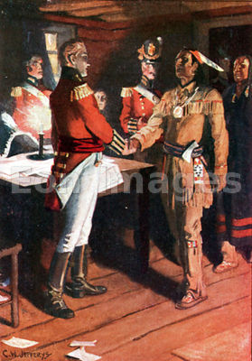 Tecumseh meets with Isaac Brock