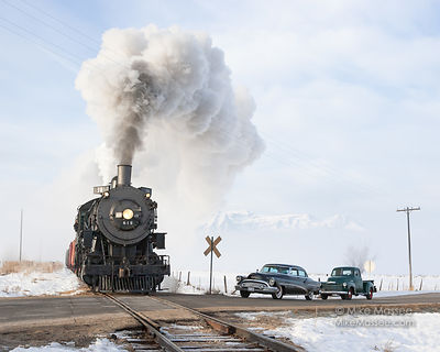 Heber Valley Railroad #611 at road crossing