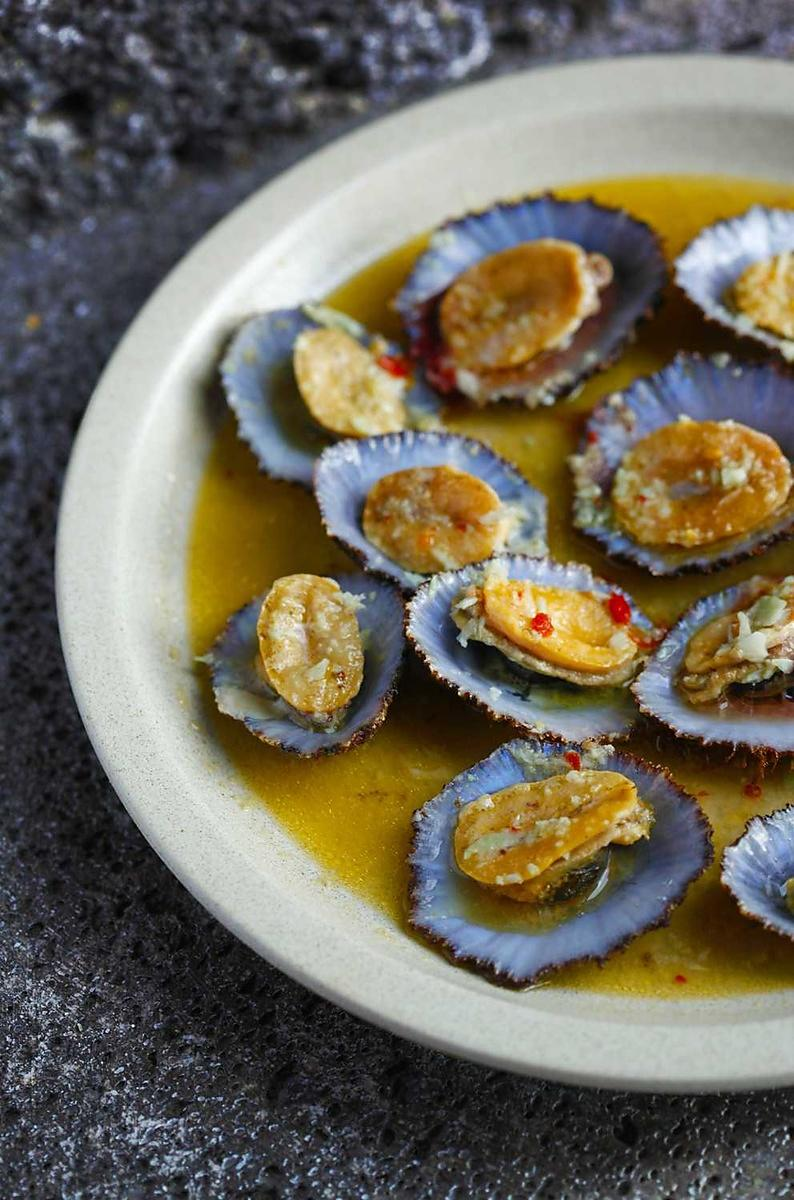 Grilled Limpets from Pico Island, Azores
