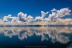 819 Cloud Reflections on the Yellowstone