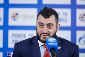 Boris Sapozhnikov during the Final Tournament - Final Four - SEHA - Gazprom league, Closing Press Conference, Belarus, 09.04.2017, Mandatory Credit ©SEHA/ Stanko Gruden..