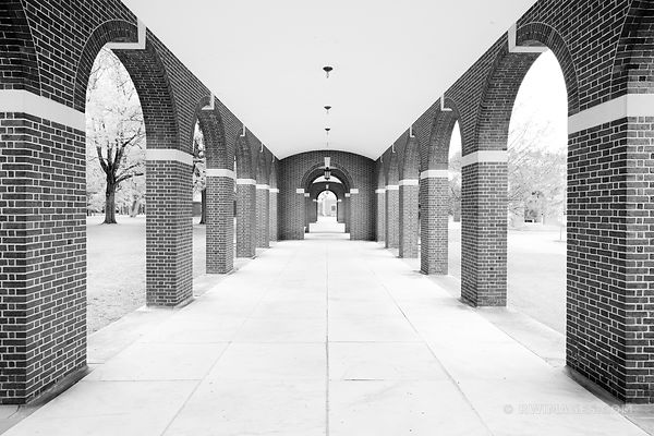 HALL OF SPRINGS SARATOGA SPRINGS SPA STATE PARK NEW YORK BLACK AND WHITE